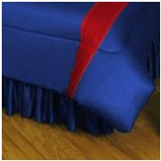 Sports Coverage NHL New York Rangers Polyester Jersey Bed Skirt; Queen