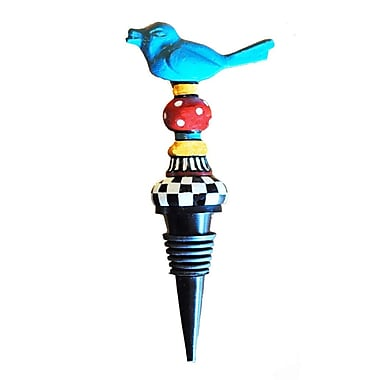 Golden Hill Studio Metal Bird Bottle Stopper