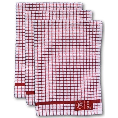 Gerbrend Creations Inc. 3 Piece Kitchen Towel Set; Red