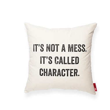 Posh365 Expressive It's Not a Mess Cotton Throw Pillow