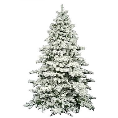 Vickerman Flocked Alaskan 9' White Pine Artificial Christmas Tree w/ Unlit w/ Stand