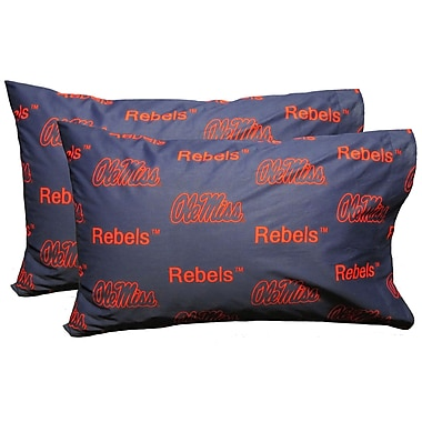 College Covers NCAA Mississippi Pillowcase (Set of 2)