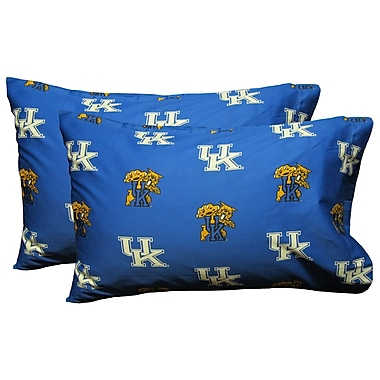 College Covers Collegiate NCAA Kentucky Wildcats Pillowcase (Set of 2); King