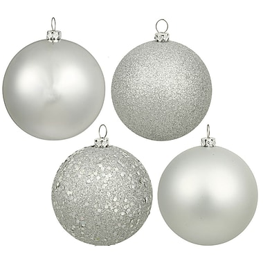 Vickerman 16 Piece Assorted Ornament Set; Silver