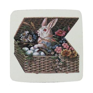 Golden Hill Studio Bunny in Basket Coaster (Set of 8)