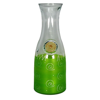 Golden Hill Studio Frosted Curl Carafe; Light Green