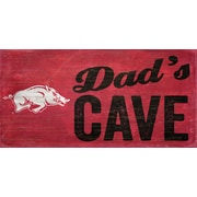 Fan Creations NCAA Dad's Cave Graphic Art Plaque; University of Arkansas