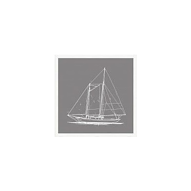 Melissa Van Hise Boats IV Framed Graphic Art