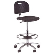 Intensa Drafting Chair; Polished Aluminum