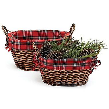 WaldImports 2 Piece Willow Basket Set