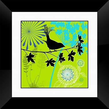 PTM Images Bird II Framed Graphic Art in Green