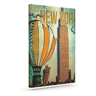 KESS InHouse 'New York' by iRuz33 Vintage Advertisement on Wrapped Canvas; 10'' H x 8'' W x 2'' D