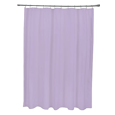 E By Design Solid Shower Curtain; Lilac Purple