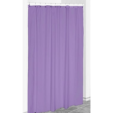 E By Design Solid Shower Curtain; Heather Purple