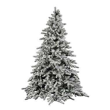Vickerman Flocked Utica 9' Green Fir Artificial Christmas Tree w/ Unlit w/ Stand