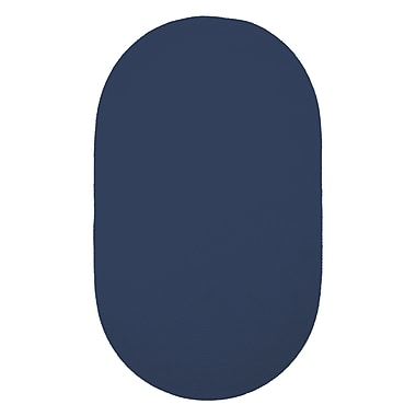 Capel Custom Classics Navy Solid Rug; Oval 3' x 5'