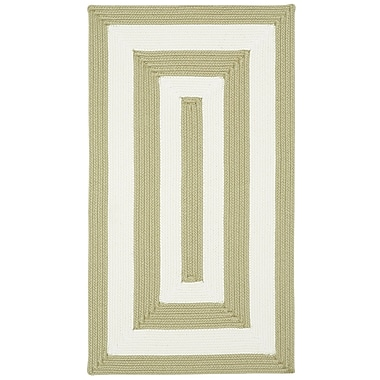 Capel Willoughby Cream Striped Outdoor Area Rug; Concentric 1'8'' x 2'6''