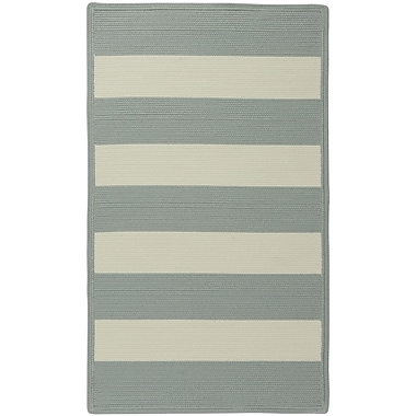 Capel Willoughby Striped Spa Blue Area Rug; Cross Sewn 8' x 11'