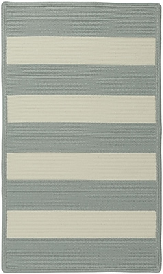 Capel Willoughby Striped Spa Blue Area Rug; Cross Sewn 5' x 8'