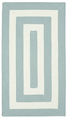 Capel Willoughby Striped Spa Blue Area Rug; Concentric 11'4'' x 14'4''