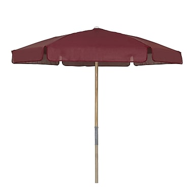 Fiberbuilt Market 7.5' Beach Umbrella; Burgundy