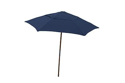 Fiberbuilt Market 7.5' Umbrella; Navy Blue
