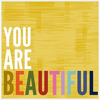 PTM Images You Are Beautiful Framed Textual Art
