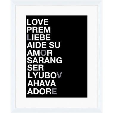 PTM Images Love in Every Language Framed Textual Art