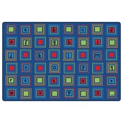 Carpets for Kids Premium Collection Literacy Squares Seating Kids Rug; 8' x 12'