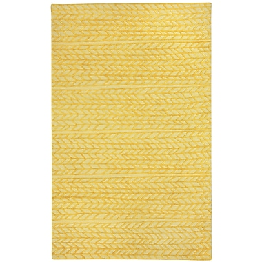 Capel Spear Yellow Area Rug; Rectangle 5' x 8'
