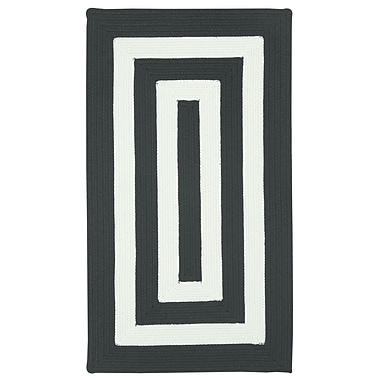 Capel Willoughby Black/White Striped Outdoor Area Rug; Square 7'6''