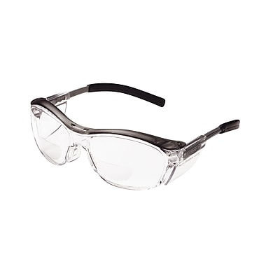 3M Occupational Health & Env Safety Glasses With Gray Plastic Frame, 2.0 Diopter