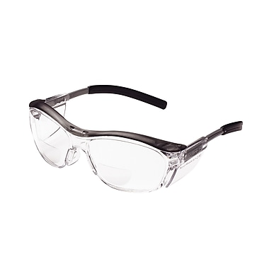 3M Occupational Health & Env Safety Glasses With Gray Plastic Frame, 2.5 Diopter