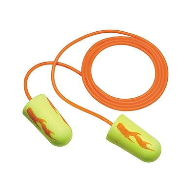 3M Occupational Health & Env Safety Neon Blasts Corded Earplugs, 100/Box