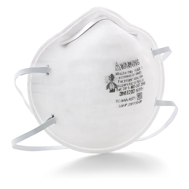 3M™ 8200 Particulate Occupational Health & Environment Safety Respirator N95, 20/Pack