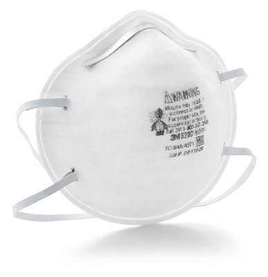 3M™ Disposable Particulate Respirator, 8200, N95 20/Bx, White