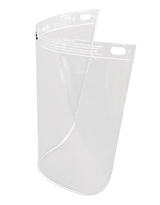HIGH PERFORMANCE® Clear Propionate Face Shield Visor, 8 in (H) x 11 1/4 in (W) x 0.06 in (T)