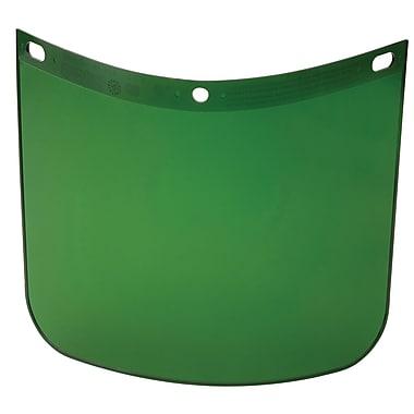 HIGH PERFORMANCE® Dark Green Propionate Face Shield Visor, 8 in (H) x 11 1/4 in (W) x 0.06 in (T)