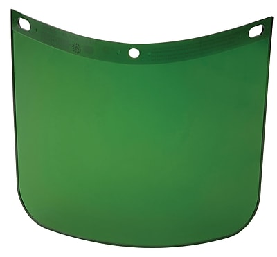 HIGH PERFORMANCE® Dark Green Propionate Face Shield Visor, 8 in (H) x 11 1/4 in (W) x 0.06 in (T)