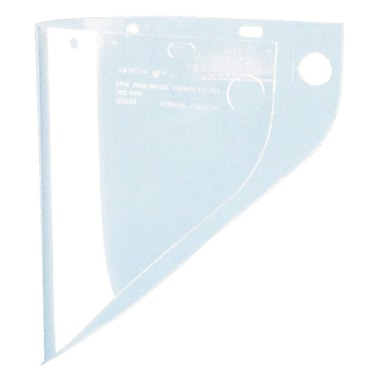 HIGH PERFORMANCE® Clear Propionate Face Shield Visor, 9 3/4 in (H) x 19 in (W) x 0.06 in (T)