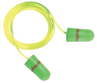 3M Occupational Health & Env Safety Corded Earplugs With Vinyl Cord 100/Box