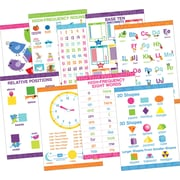 "Barker Creek Early Learning Essentials Poster Set, 13-3/8"" x 19"", Nine Posters/Set"