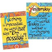 "Barker Creek 13-3/8"" x 19"" Moroccan I'm Possible Poster Duet Set, 2 Posters/Set"