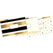 Barker Creek 24K Gold Fashion File Folders W/Gold Foil, legal size, 1/3 cut, multi-design set, 9/Pk