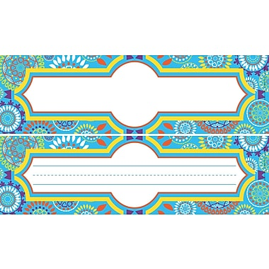 Barker Creek Double-Sided Moroccan Name Plates & Bulletin Board Signs, multi-design set, 12