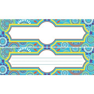 Barker Creek Dbl-Sided Moroccan Name Plates & Bulletin Board Signs, multi-design, 12