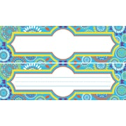 "Barker Creek Double-Sided Moroccan Name Plates & Bulletin Board Signs, multi-design set, 12"" long x 3-1/2"" wide, 36/Pack"