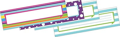 Barker Creek Double-Sided Happy Name Plates & Bulletin Board Signs, 12