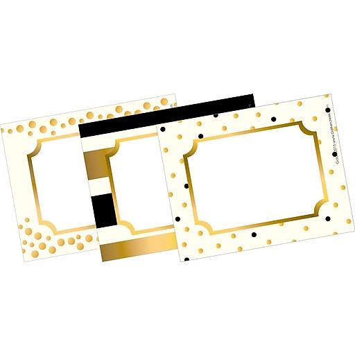 Barker Creek Gold Name Badges & Self-Adhesive Labels, 3-1/2