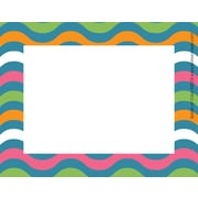 "Barker Creek Splash of Color Name Tags & Self-Adhesive Labels, 3-1/2"" x 2-3/4"", multi-design set, 45/Pack"